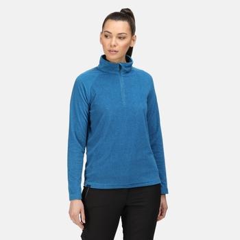 Women's Pimlo Half Zip Velour Fleece Blue Sapphire