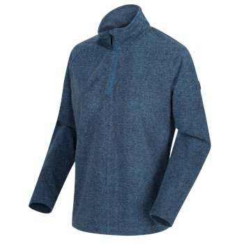 Women's Pimlo Half Zip Velour Walking Fleece Blue Opal