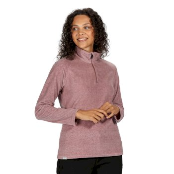 Women's Pimlo Half Zip Velour Walking Fleece Dusky Heather