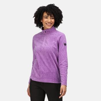 Women's Pimlo Half Zip Velour Fleece Hyacinth