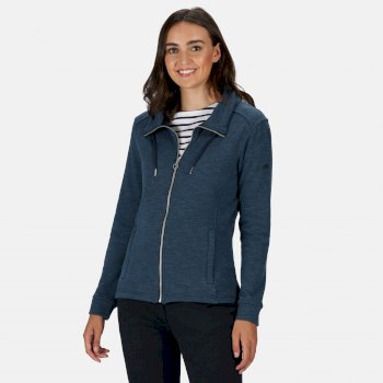 Women's Olena Full Zip Snood Collar Fleece Navy