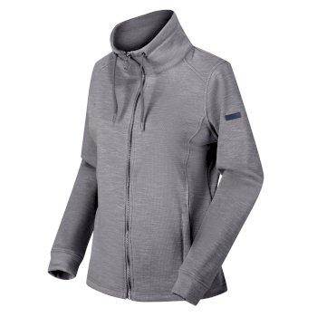 Women's Olena Full Zip Snood Collar Fleece Rock Grey