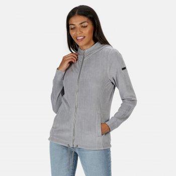 Women's Ranielle Full Zip Hooded Fleece Rock Grey