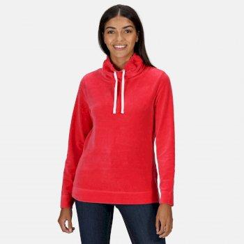 Women's Hepzibah Cowl Neck Lightweight Sweatshirt True Red