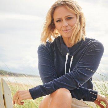 Women's Hepzibah Cowl Neck Lightweight Sweatshirt Navy