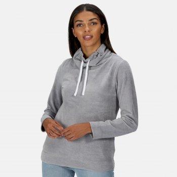 Women's Hepzibah Cowl Neck Lightweight Sweatshirt Rock Grey