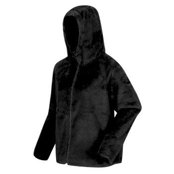 Women's Haddie Full Zip Heavyweight Hooded Faux Fur Fleece Black