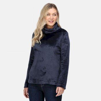 Women's Radmilla Overhead Fleece Navy Fluffy