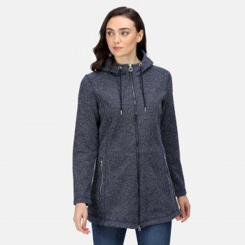 Women's Radhiyah Full Zip Heavyweight Fleece Navy Wool Effect