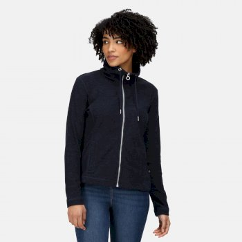 Women's Zabelle Full Zip Fleece Navy Marl