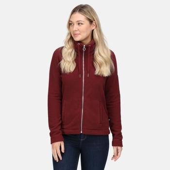 RWA497_NFA: Womens Zabelle Full Zip Fleece Claret Fluffy