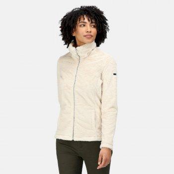 Women's Heloise Full Zip Fleece Light Vanilla Linear Fur