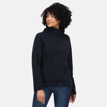 Women's Bethan Wrap Neck Fleece Navy Marl