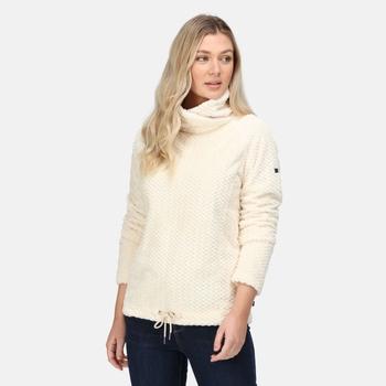 Women's Bethan Wrap Neck Fleece Light Vanila Fluffy