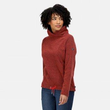 Women's Bethan Wrap Neck Fleece Molten Marl