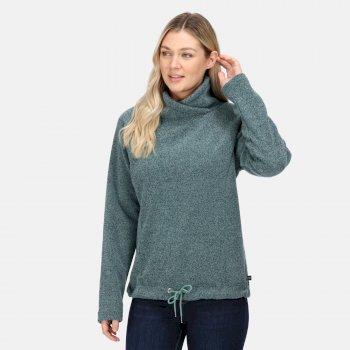 Women's Bethan Wrap Neck Fleece Ivy Moss Marl
