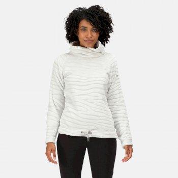 Women's Bethan Wrap Neck Fleece Cyberspace Burn Out
