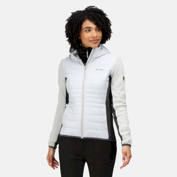 Women's Pemble III Hybrid Insulated Full Zip Fleece Cyberspace Seal Grey