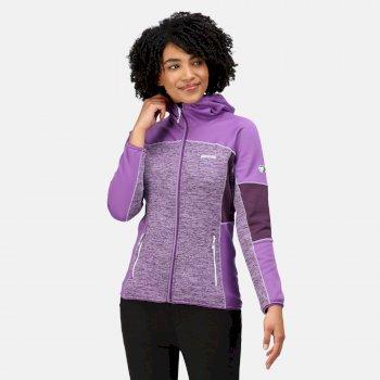 Women's Walbury II Full Zip Fleece Hyacinth Purple Sapphire Dark Aubergine