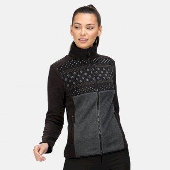 Women's Ashlett Full Zip Fleece Black Black Marl