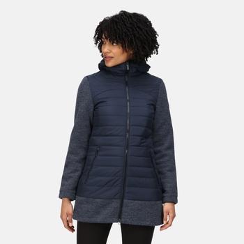 Women's Alivia Insulated Full Zip Fleece Navy Navy Marl