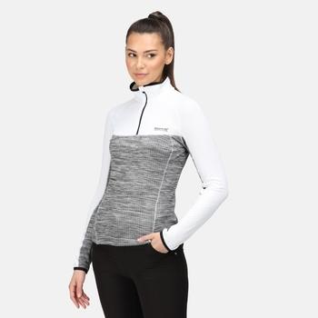 Women's Hepley Lightweight Half Zip Fleece White Black