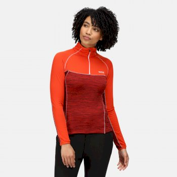 Women's Hepley Lightweight Half Zip Fleece Cajun Orange Tigerlilly Orange