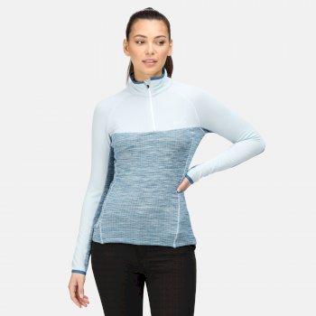 Women's Hepley Lightweight Half Zip Fleece Ice Blue Blue Sapphire Dark Denim