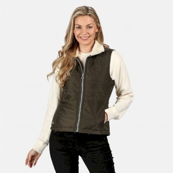 Women's Westlynn Insulated Fur Trimmed Bodywarmer Dark Khaki