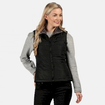 Women's Westlynn Insulated Fur Trimmed Bodywarmer Black