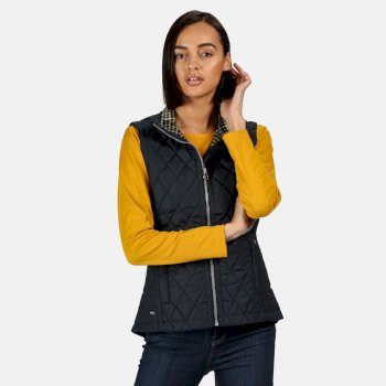 Women's Charna Insulated Diamond Quilted Bodywarmer Navy