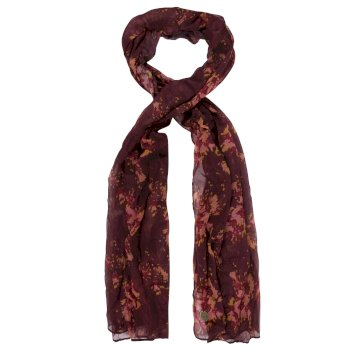 Women's Peggie II Printed Cotton Scarf Burgundy Floral