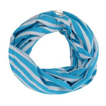 Women's Shaila Striped Jersey Scarf Azure Blue