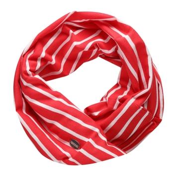 Shaila Striped Jersey Scarf True Red White