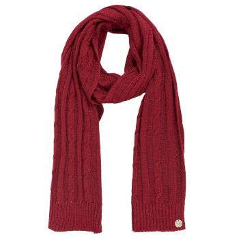 Multimix II Cable Knit Scarf Rumba Red