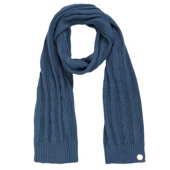 Multimix II Cable Knit Scarf Majolica Blue