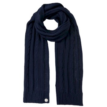 Women's Multimix II Cable Knit Scarf Navy