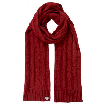 Women's Multimix II Cable Knit Scarf Delhi Red