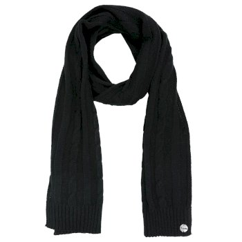 Multimix II Cable Knit Scarf Black