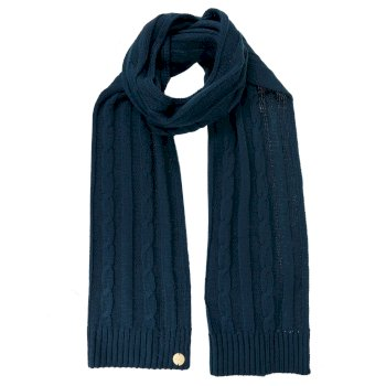 Women's Multimix II Cable Knit Scarf Deep Teal
