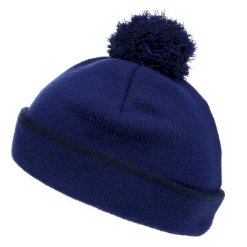 Women's Rushley Bobble Hat Prussian Blue