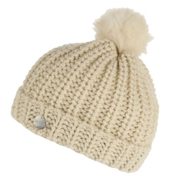 Women's Lovella II Chunky Knit Bobble Hat Light Vanilla