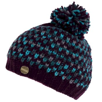 Women's Frosty III Bobble Hat Prune