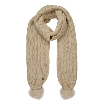 Women's Lovella Pom Pom Scarf Light Vanilla