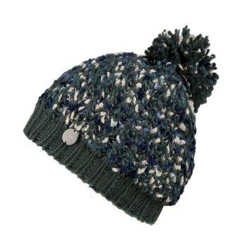 Women's Lorelai II Chunky Acrylic Knit Bobble Hat Balsam Green