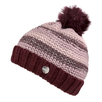 Women's Frosty IV Fleece Lined Knitted Bobble Hat Deep Burgundy