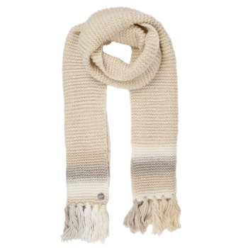 Women's Frosty IV Knitted Fringe Hem Scarf Light Vanilla