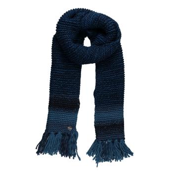 Women's Frosty IV Knitted Fringe Hem Scarf Navy