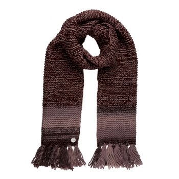 Women's Frosty IV Knitted Fringe Hem Scarf Deep Burgundy