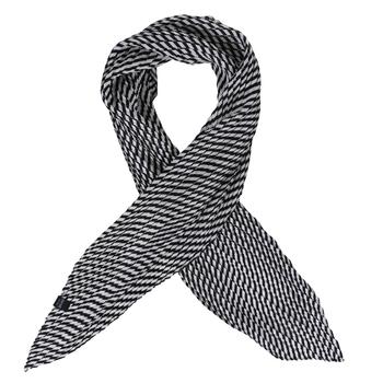 Women's Meggie Plisse Scarf Navy White Stripe